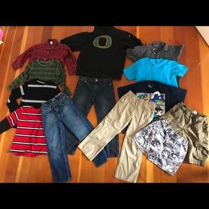 Lot of boys size 5/5T clothing